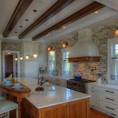 Backsplash Brick Kitchen Design,