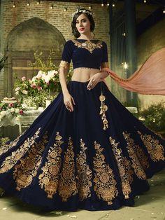 Latest Indian Bridal Dresses Online - Buy Indian Bridal Wear For Women Ghagra Choli, Bridal Lehenga Choli, Wedding Lehnga, Blue Lehenga, Wedding Gowns, Designer Bridal Lehenga, Indian Dresses, Indian Outfits, Bridal Dresses