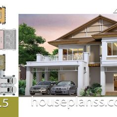 Small House Design Plans with 2 Bedrooms Full Plans - House Plans Sam Home Design Plans, Plan Design, 6 Bedroom House Plans, Simple House Plans, Home Buying Tips, Room Planning, Small House Design, Story House, House Prices
