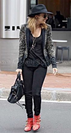 Nicole Richie Wore A Cute Preen Bridget Leopard Print Blazer Out To Lunch May 31,2012