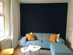 Indigo blauwe muur met Flexa pure lush indigo.