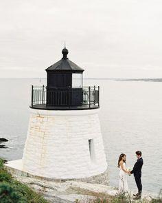 A Classic and Stylish Nautical Wedding | Martha Steward Weddings Magazine | Castle Hill Inn, Newport, Rhode Island