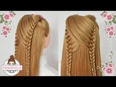 6 Peinados Casuales para Cabello Largo con Trenzas para la Escuela Faciles y Rapidos - YouTube