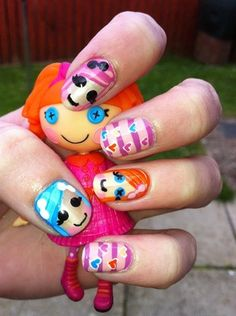 Lalaloopsy Nails!! =D by katienailart from Nail Art Gallery