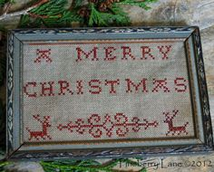 A Merry Christmas Redwork Sampler pattern from Pineberry Lane.