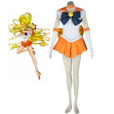 Sailor Moon Sailor Venus Minako Aino Fighting Uniform Cosplay Costume