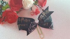 Harry Potter and the Deathly Hallows Planner Clip Bow by DixiePlannerDesigns on Etsy