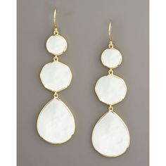 Ippolita Gelato Mother-of-Pearl Earrings ($1,295) ❤ liked on Polyvore
