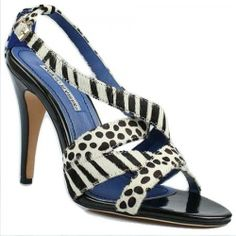 Manolo Blahnik Strappy Animal Print Shoes  http://www.hervesalefr.com/manolo-blahnik-strappy-animal-print-shoes-p-2795.html