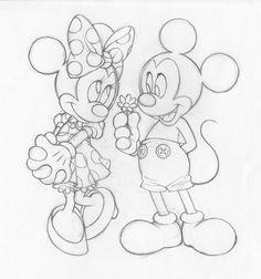 Mickey and Minnie Line Art by SAkURA-JOkER on deviantART