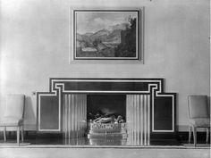 The fireplace in the dining room at Eltham Palace, London (photo Country Life magazine,