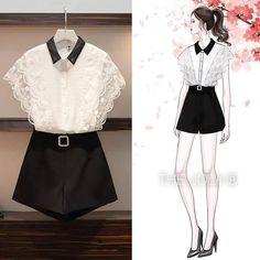 Kpop Fashion Outfits, Korean Outfits, Cute Fashion, Girl Fashion, Fashion Dresses, Cute Casual Outfits, Stylish Outfits, Dresses For Teens, Nice Dresses