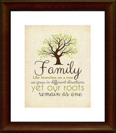 Family Quote Printable Home Decor Family by BittyBirdieDesigns, $5.50