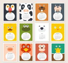 לוח שנה מעוצב לילדים