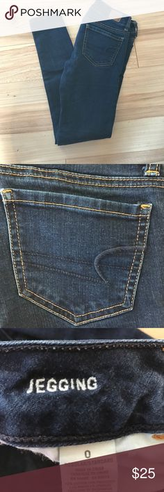 American Eagle Jeans 0 Regular American Eagle Dark colored Jeggings American Eagle Outfitters Jeans Skinny