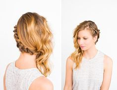 Side Swept Braid and Wave Hair   This boho chic hairstyle is perfection.