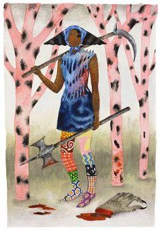 "Saatchi Art Artist Keri Oldham; Painting, ""Warrior with Severed Claw"" #art"