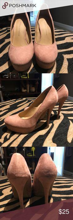 Lauren Conrad blush heels. Excellent condition. Lauren Conrad blush heels. Excellent condition. LC Lauren Conrad Shoes Heels