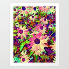Bunches of Psychedelic Love Art Print by RokinRonda - $18.95
