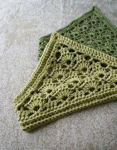 pretty lace pattern by Kristen TenDyke - Lacy Crochet Kerchief