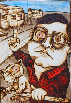 Bubbles from Trailer Park Boys Knoteye Woodburning