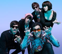 Fangs up for Cobra Starship, this picture pretty much sums up the band...