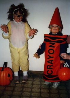 Me (age 3) and Matthew G (age 2) on Halloween 1985