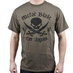 Pirate Logo Black on Military Green