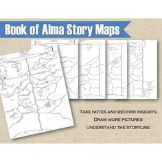 Story maps for the book of Alma. Use these to follow the story, take notes, draw more pictures - whatever you want!