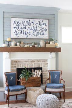 Home Decor and DIY: Fall Mantel Decorating