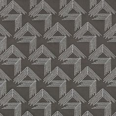 V Step in Charcoal by Miles Redd for Schumacher @schumacher1889 #fabric #textiles #cotton #geometric #brown #schumacher #milesredd