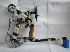 Homemade Crossbow, Homemade Weapons, Arrow Slingshot, Compact Bow, Cross Bows, Archery Bows, Concept Weapons, Bow Arrows, Military Guns