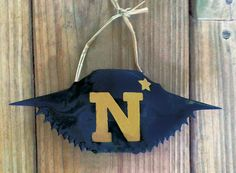 Hand painted Naval Academy  Navy crab by SeaIslandArtworks on Etsy