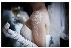 white wedding henna