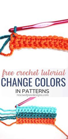 How to Change Colors in Crochet Projects Learn an easy method on how to change colors in crochet projects crochettutorial freecrochetpattern rescuedpawdesigns The Effective Pictures We Offer You About crocheting patterns A Crochet Video, Crochet Geek, Learn To Crochet, Crochet Crafts, Free Crochet, Easy Things To Crochet, Crochet Humor, Beginner Crochet Projects, Crochet Basics