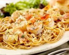 Spaghetti (ou linguine) aux crevettes et ricotta (facile, rapide) - Une recette CuisineAZ