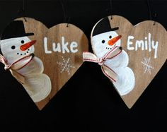 PERSONALIZED CHRISTMAS DECOR, Christmas tree decor, Custom name pallet, Snowman decor, Merry Christmas, Reclaimd wood sign, Custom name