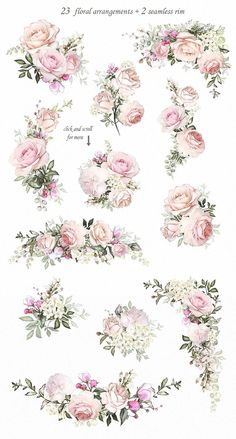 Floral Design set by LisimArt on Creative Market 2019 Love & Roses. Floral Design set by LisimArt on Creative Market The post Love & Roses. Floral Design set by LisimArt on Creative Market 2019 appeared first on Floral Decor. Design Floral, Design Set, Decoupage Vintage, Pattern Floral, Motif Floral, Floral Border, Flower Frame, Flower Art, Vintage Love Quotes