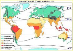 Les zones bio-géographiques de la Terre