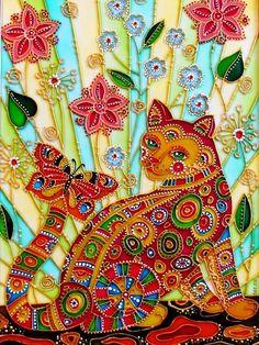 cute artwork of a cat