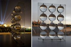 This spherical solar collector is able to concentrate sunlight up to 10,000 times. But the really fantastic thing about this system is that it can also create power from moonlight, something that other solar power systems have not been able to promise.