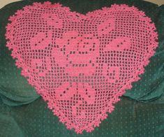 Filet Crochet, Crochet Top, Hearts, Women, Tray Tables, Crochet Lace, Watercolour, Dish Towels, Cross Stitch Embroidery