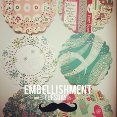 Christmas Paper Doily 3 paper / pack for