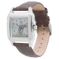 #beauty - #Beautiful white horse in mist wristwatch