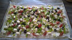 Das perfekte vegetarischer Flammkuchen-Rezept mit Bild und einfacher Schritt-für-Schritt-Anleitung: Backofen auf 200°C vorheizen (Heißluft).
