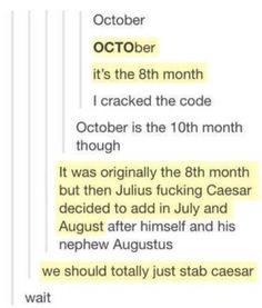 """.""""WE SHOULD TOTALLY JUST STAB CEASER!!!!!!!!!!!!!"""" -Gretchen in mean girls xD"""