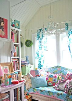 Bright Colourful Craft Room