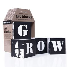 Set of 4 Art Blocks