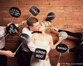 24 printable photo booth prop signs