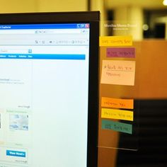 Transparent Monitor Memo Board / mochi things